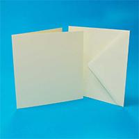 Crafts UK 50/Deckle Edge Cards White C6