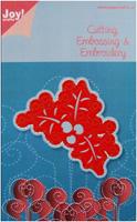 JOY CRAFTS Die Cut//Emboss//Embroidery Stencil CHRISTMAS WINDOW RULER 6002//2010