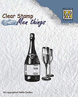 NEW Nellie Snellen Clear Stamps Men Things - Wine