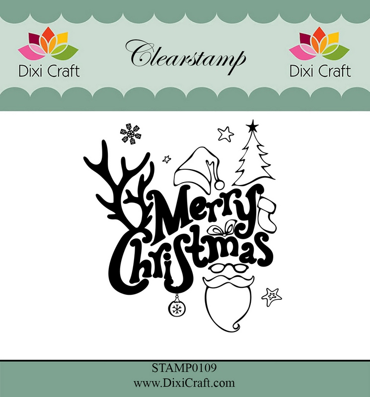 Merry Christmas Craft Stamp