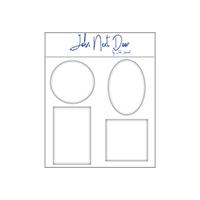 John Next Door Gel Media Plate Rectangle Frame JLMP008 by John Lockwood